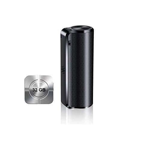 Registratore vocale con audio di qualità ultra 32GB, registratore vocale digitale attivato, Mini registratore vocale protetto da timestamp con processore di riduzione del rumore e assorbimento magnet