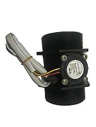 3//4 Hall Effect Flow Sensor Flowmeter GREDIA Digital LCD Display Quantitative Controller Water Control