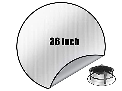 36'' Round Fire Pit Mat | Grill Mat Deck Protector ,BBQ Fireproof Pad to protect Grass and Patio | Fireproof Mat for Under Outdoor Grill