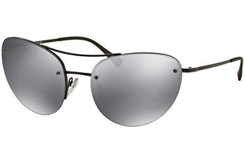 Prada PS51RS zonnebril 7AX5L0 SPS51R, zwart met grijze lens, groot, zwart