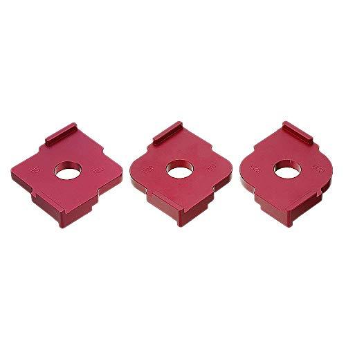 SNOWINSPRING 3 Stücke Holzplatte Radius Quick-Jig Router Tisch Bits Graviermaschine Trimmer Jig Ecke Vorlagen Kit Aluminiumlegierung