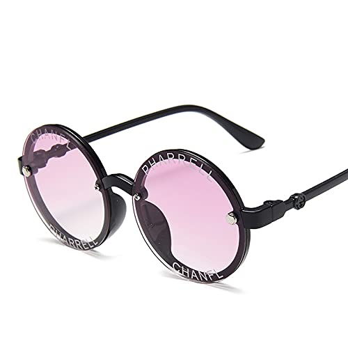TUEWDFSA Gafas de Sol Niños Redondos Gafas de Sol Polarizadas para niños Gafas de Sol Niñas Niñas Bebé Gafas al Aire Libre Sombras Gafas Producto al Aire Libre