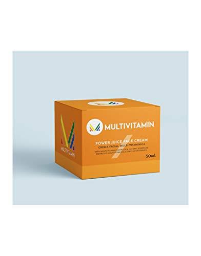 Crema facial Multivitamin de día. Day Face Cream. Una buena y completa crema con 10 nutrientes y activos, indispensables para la mejora de la piel. Se presenta en tarro de cristal de 50 ml.