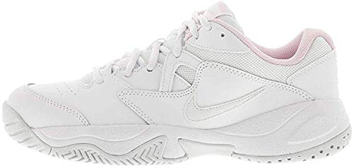 Nike Wmns Court Lite 2, Scarpe da Tennis Donna, White/Photon Dust/Pink Foam, 38.5 EU