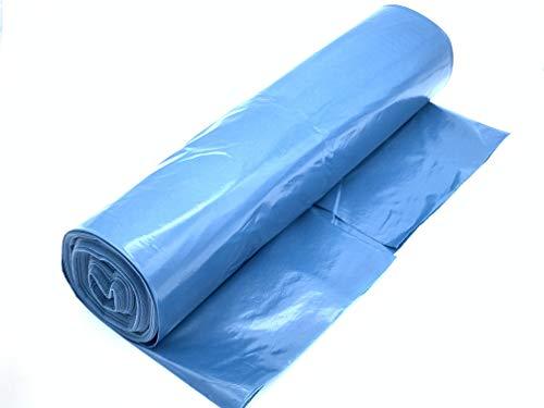 FAYUNET Bolsas de basura 120 l - gran resistencia al desgarro - rollo de 25 - Tipo 100 extra - Sacos de basura XXL bolsas de basura - 50 µ - 700 x 1.100 mm - Azul