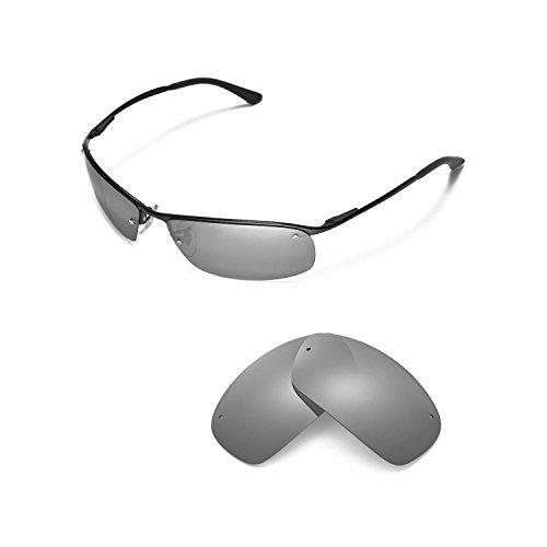 Walleva Ersatzgläser für Ray-Ban RB3183 63mm Sonnenbrille - Mehrfache Optionen (Titan Mirror Coated - Polarisiert)