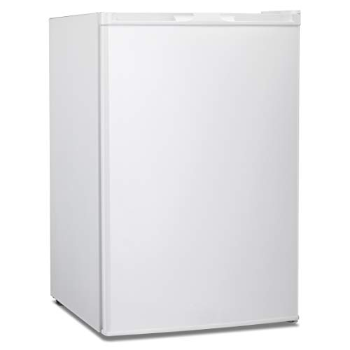 Antarctic Star Compact Chest Upright Freezer Single Door Reversible Stainless Steel Door, Compact Adjustable Removable Shelves for Home Office, 3.0 cu.White
