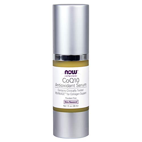 NOW Solutions, CoQ10 Antioxidant Serum, with Clinically Tested REVINAGE for Collagen Support, Visible Firming, 1-Ounce