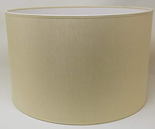 Zylinder Lampenschirm Baumwolle Stoff handgefertigt für Deckenleuchte, Tischleuchte, Stehlampe (Creme, 35 cm Durchmesser 23 cm Höhe)