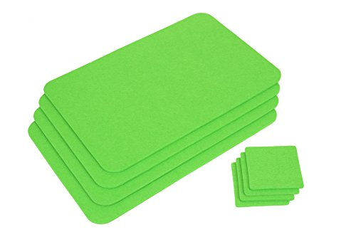 Gräwe - Lot de 4 sets de table - Vert