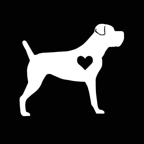 Jingmeichetie Pegatinas de automóviles, Pegatina 14.2x12.6cm Etiqueta engomada del Coche Decoración de Vinilo Decoración Cano Coro Lil Heart Dog Black/Silla Pegatinas de Coche, Pegatina (Nombre de c