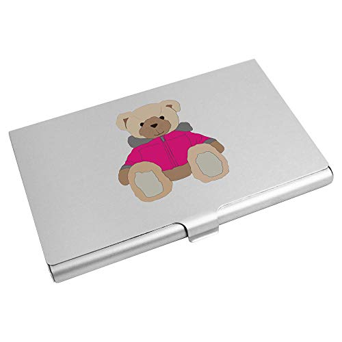 Azeeda 'Pink Coat Teddy Bear' Business Card Holder / Credit Card Wallet (CH00023367)