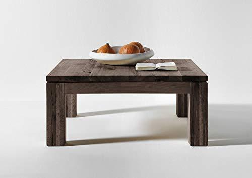 Sit Möbel Couchtisch 90 x 90 cm, Samson, Balkeneiche, Räucheröl-Finish, Plattenstärke 30 mm, Zarge 70 mm