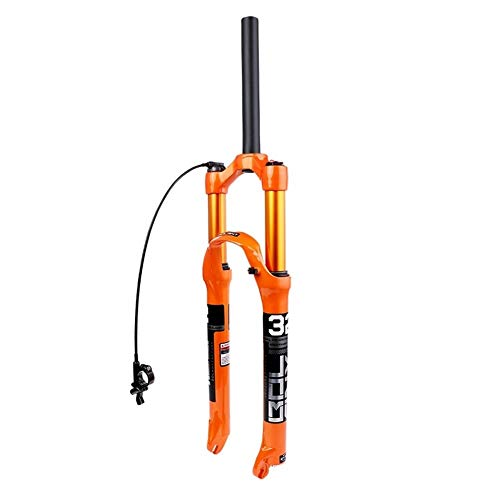 ZYXF 26 27.5 29Inch MTB Bike Front Suspension Forks Lockout Disc Brake Stroke 120MM for Mountain XC AM Offroad Bicycle (Color : Wire Control, Size : 26 inches)