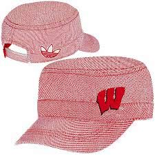 adidas NCAA Wisconsin Badgers Military Hat - Women OSFA M- Y290W Red, White