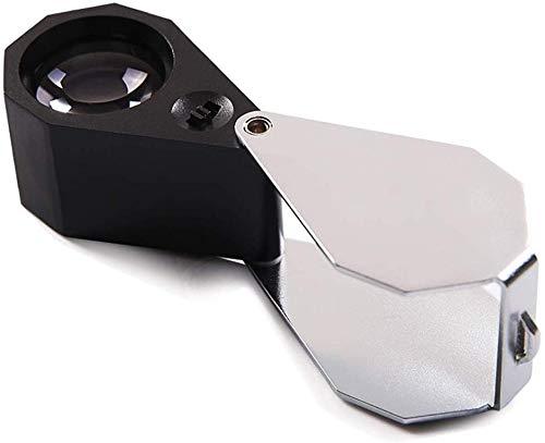 HZWLF Lupen-Metallvergrößerungsglas-Hochvergrößerungslupe-Jade-Identifikations-Schmucksache-Antike, die Portable faltet