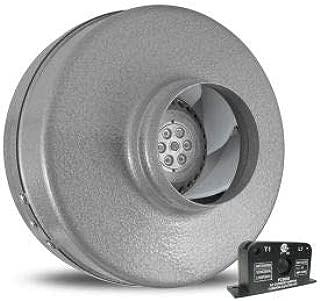 Vortex Powerfan 4'' In-Line Duct Fan VTX400-ACS - 220 CFM with Current Sensor Kit