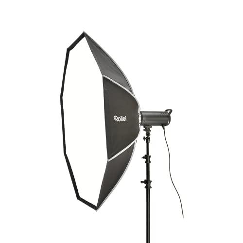 Rollei Profi Studio-Blitz klick-Octabox 150cm - Faltbare Octagonale Softbox mit Bowens-Anschluss - Lichtformer für Studio-Blitzgeräte