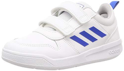 adidas Unisex Kinder Tensaur C Leichtathletik-Schuh, FTWWHT/Blue/FTWWHT, 28 EU