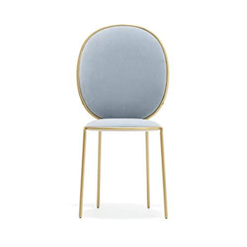 YUiiTI Make-up Hocker, Stoff Sitzfläche Metall Stuhl-Beine Barhocker Western Restaurant Dessert-Shop Bekleidungsgeschäft Sessel for Mädchen Rutschfester Sitz (Color : A, Size : 45 * 98cm)