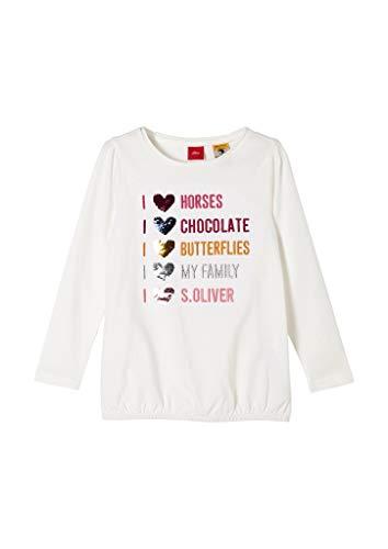 s.Oliver Junior Mädchen 403.10.009.12.130.2043150 T-Shirt, Off-White, 92/98/REG