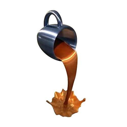Taza de café suspendida Que se derrama Creativa, Escultura de la Taza Flotante Que vierte el Regalo líquido de la decoración del Arte de la Taza de café