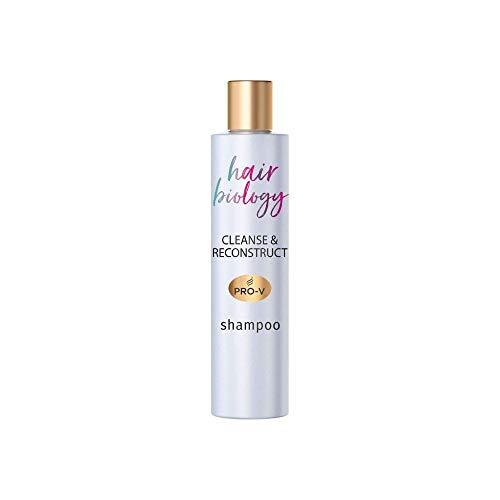 Hair Biology Cleanse & Reconstruct Shampoo, 250ml, Bei Fettigem Ansatz Und Geschädigten Spitzen, Haarpflege, Shampoo Damen, Tiefenreinigung Shampoo, Shampoo ohne Silikon, Rosenwasser