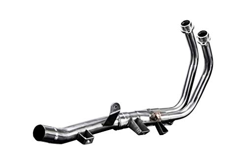 Delkevic Aftermarket Stainless Steel 2-1 Header compatible with Honda CB500F CB500X & CBR500R (2013-2018)