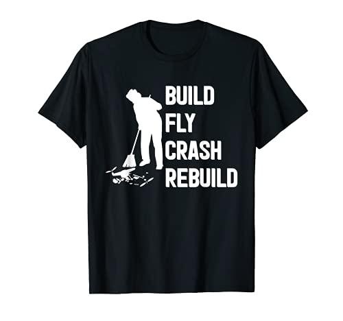 Costruisci Fly Crash Ricostruisci pilota acrobatico Maglietta