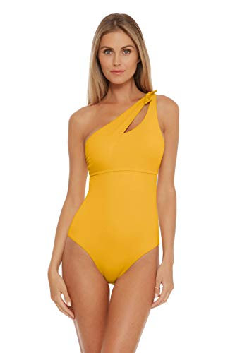 Becca by Rebecca Virtue Women's Sadie One Shoulder One Piece Swimsuit Sunshine S