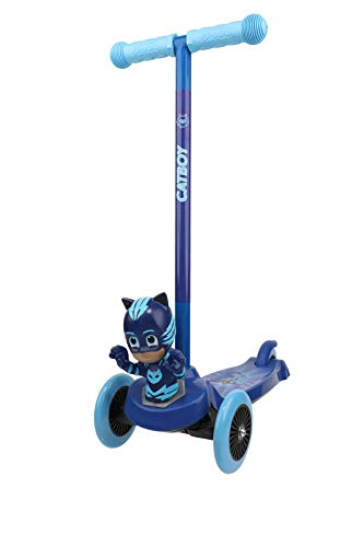 PJ Mask Gekko 3 Wheel Kick Scooter - Toddler Scooter, Kids Scooter, Self Balancing, Foot Activated Brake, 75 Lbs Weight Limit, Extra Wide Deck, for Kids, Boys, Girls, Ages 3 and Up (ACTSCOT429120G)