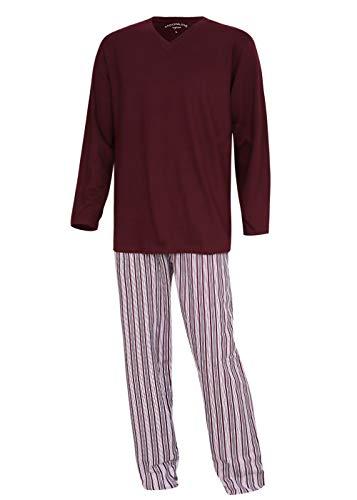 KB Socken Schlafanzug Pyjama Hausanzug Nachtwäsche Herren Baumwolle Moonline Nightwear (Rot, M)