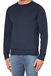 Ribbed contrast crew neck, hem and cuffs Black, Charcoal, Dust Pink, Grey Melange, Indigo Blue, Navy Blue Crafted from soft heavy %100 cotton blend jersey, fleece inner Features a ribbed crew neck with a V-insert Easy Care - Machine Wash - Cold (20° ...