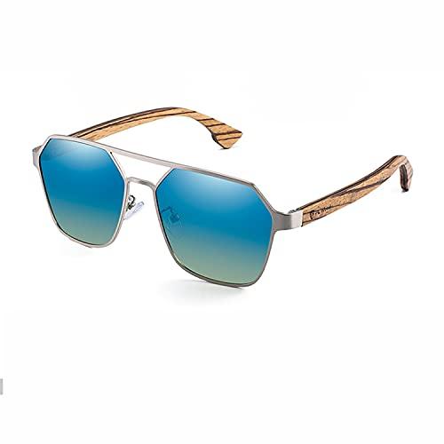 YuanRuiWMS Hu Mu Gafas de sol polarizadas para hombre, lentes rojas, gafas de madera hechas a mano UV400 (color: 04)