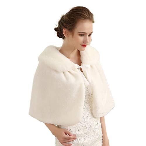 MSchunou Komfortables und schönes warmes Schnürtuch, geeignet für Tücher, Winddicht und warm, dreidimensionale Schneiderei, Brautkleid für Hochzeitskleid, weiche hautfreundliche Textur, Außentuch