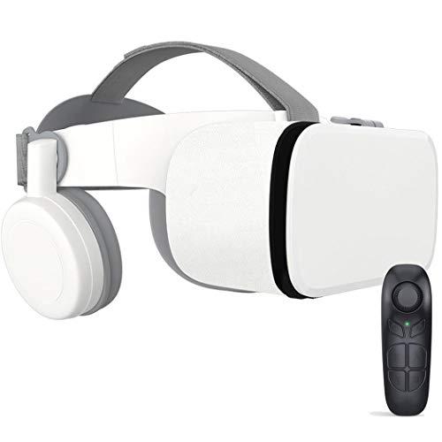 JCSW VR Brille, 3D Brille, 110°FOV, Geeignet 4,7-6,5 Zoll Smartphone Handy mit Bluetooth Controller für iPhone 12/11/X/Xs/Max/8P/7P/8/7, Samsung S10/S9/S8/Note 10/9/8/Plus, O284XB (Size : 2)