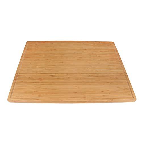 BambooMN Brand - Heavy Duty Premium Bamboo Cutting Board - 24' x 17.25' x 1' - 1 Piece