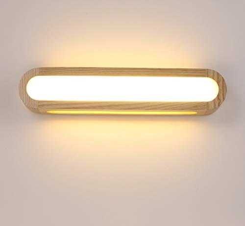 Wandleuchte LED Holz Innen Wandlampe Dimmbar Leuchte Wandleuchten Wandbeleuchtung für Wohnzimmer Schlafzimmer Treppe Flur Badezimmer (45CM)