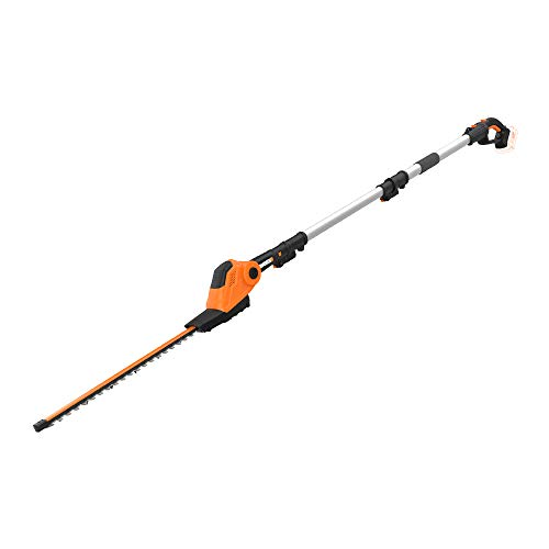 """Great Features Of WORX WG252.9 20V Power Share Pole Hedge Trimmer 20"""", Bare Tool Only,Black and Or..."""
