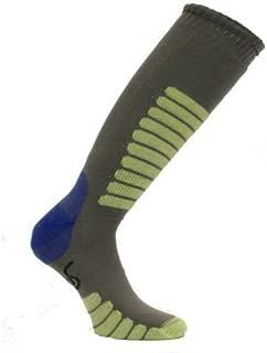 Eurosock Euro Sock New Supreme Lightweight Ski Sock Gray Mint Model #0412