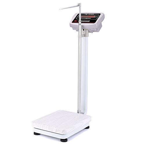 Bathroom scale Elektronische Präzisionswaagen - HöHen- Und Gewichtsskala, Digitale Arztwaagen, faltbar Aluminiumlegierung Höhenpfosten, Digitale HD-Monitore