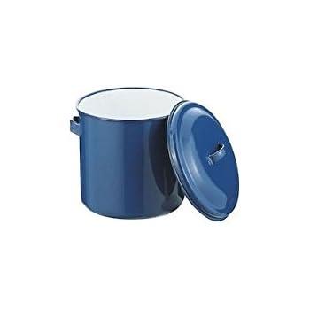 野田琺瑯 ホーロータンク 蓋 手付 18cm ブルー AKT16021
