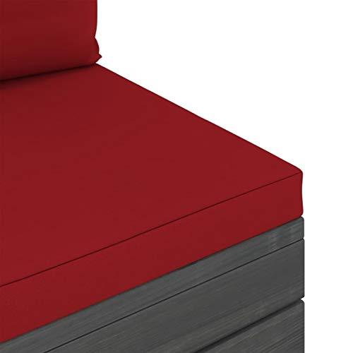Tidyard Conjuntos Sofa Exterior Patio Muebles de jardín de palets 24# 9 pzas Cojines Madera Maciza Pino