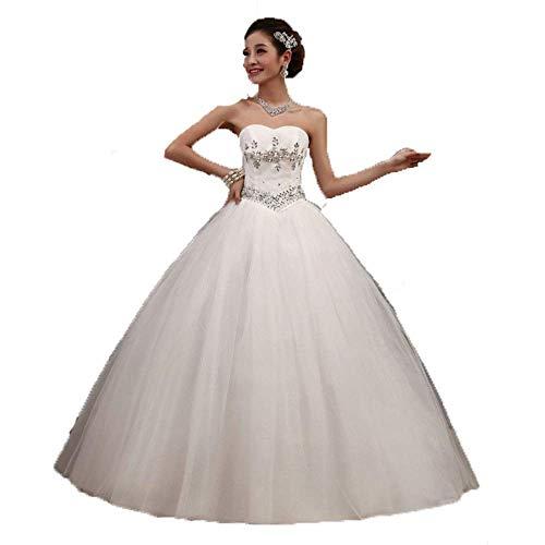 Vestido de Novia Elegante Vestido de Fiesta con Cuentas de Cristal sin...