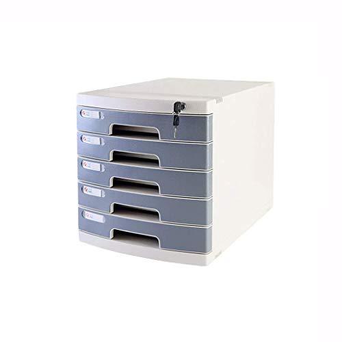 Archivador plano Presentar oficina del gabinete con cerradura de datos gaveta de almacenamiento confidencialidad de escritorio Organizador de archivos pequeños White Label Anti-off hebilla de plástico