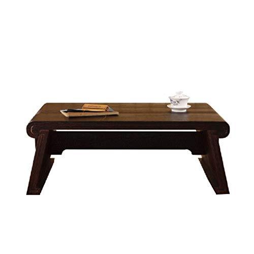 Tables basses Meubles Petite Table à Manger en Bois Massif lit Chambre à Coucher Balcon Table d'ordinateur Pliante Tables (Color : Black, Size : 30 * 40 * 60cm)