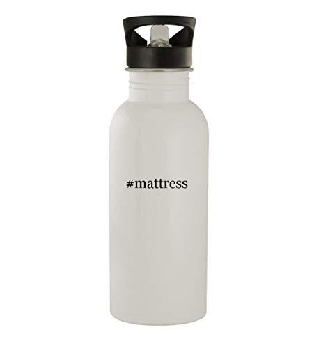 #mattress - 20oz Stainless Steel Hashtag Outdoor Water Bottle, White