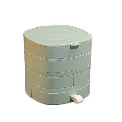 Preisvergleich Produktbild WM home Rotierende Schmuckschatulle,  Schmuckschatulle Haushalt,  Flip-Cover,  Durable und Multifunktions,  for Armbänder,  Halsketten,  Ohrringe (Color : Green)