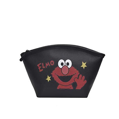 Kiki Cosmetische make-uptassen met hoge capaciteit, voor dames, handheld cosmetische tas, toilettas, organizer, waterdicht en draagbaar