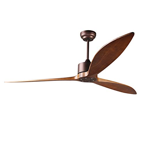 reiga 65' DC Motor Modern Smart Ceiling Fan with Wifi App Remote Control, 6 Speeds, Oil-Rubbed Bronze